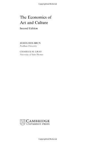 9780521631501: The Economics of Art and Culture