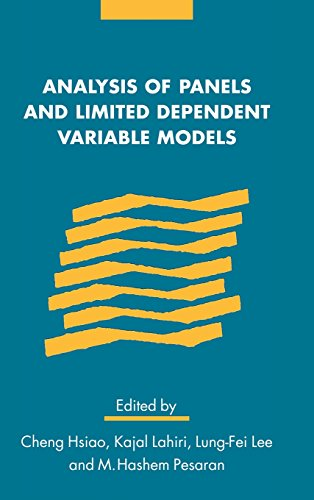 9780521631693: Analysis of Panels and Limited Dependent Variable Models (Studies in Monetary & Financial History)