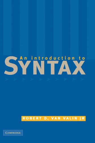 9780521631990: An Introduction to Syntax