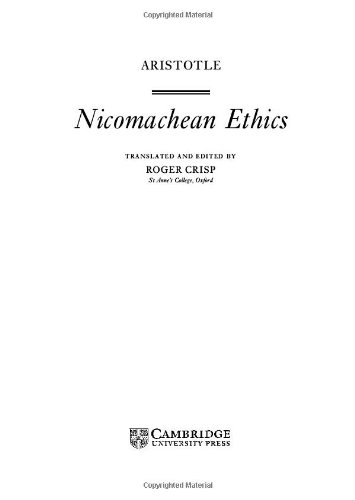 9780521632218: Nicomachean Ethics (Cambridge Texts in the History of Philosophy)