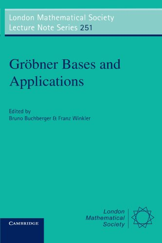 9780521632980: Gröbner Bases and Applications (London Mathematical Society Lecture Note Series)