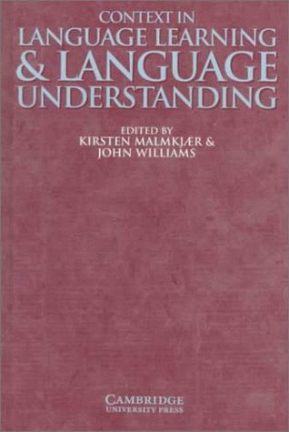 9780521633376: Context in Language Learning and Language Understanding