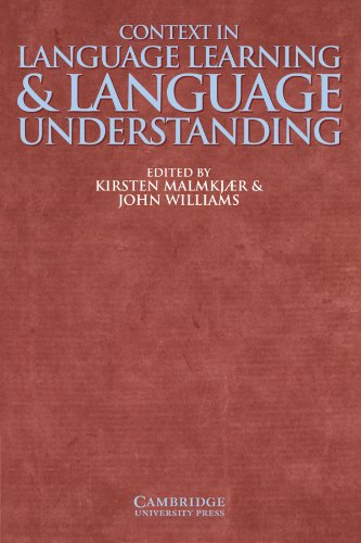 9780521633550: Context in Language Learning and Language Understanding