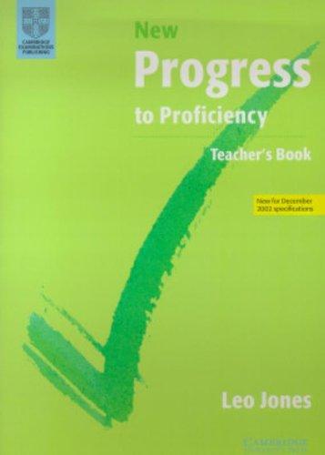 9780521635523: New Progress to Proficiency Teacher's book