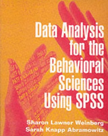 9780521635615: Data Analysis for the Behavioral Sciences Using SPSS
