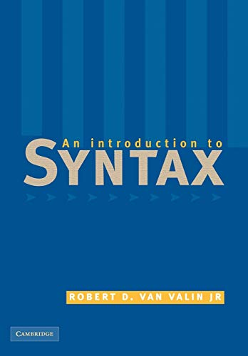 9780521635660: An Introduction to Syntax
