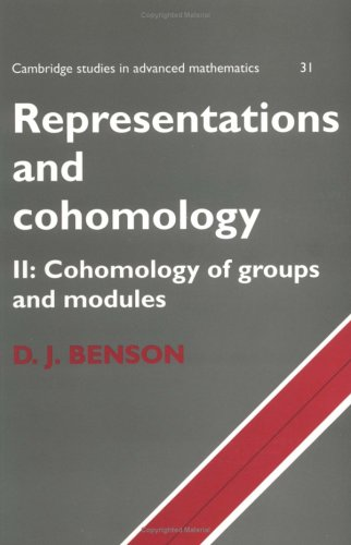 9780521636520: Representations and Cohomology: Volume 2, Cohomology of Groups and Modules (Cambridge Studies in Advanced Mathematics)