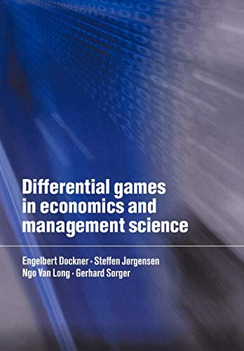9780521637329: Differential Games in Economics and Management Science Paperback