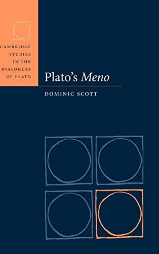 9780521640336: Plato's Meno (Cambridge Studies in the Dialogues of Plato)
