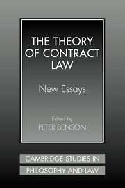 9780521640381: The Theory of Contract Law: New Essays