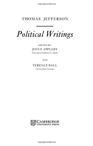 Jefferson: Political Writings (Cambridge Texts in the History of Political Thought): Jefferson, ...