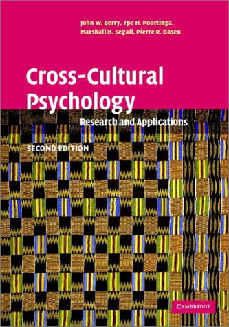 9780521641524: Cross-Cultural Psychology: Research and Applications