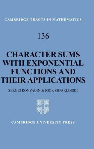 9780521642637: Character Sums with Exponential Functions and their Applications (Cambridge Tracts in Mathematics)