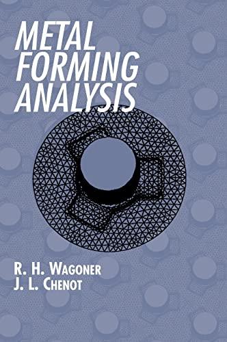 9780521642675: Metal Forming Analysis