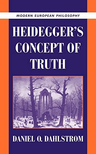 9780521643177: Heidegger's Concept of Truth (Modern European Philosophy)
