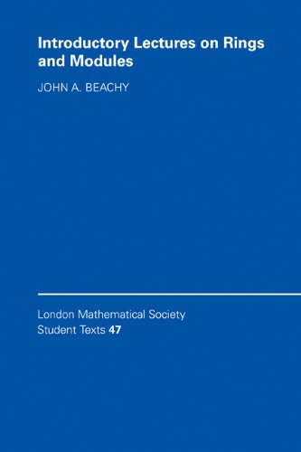 9780521643405: Introductory Lectures on Rings and Modules (London Mathematical Society Student Texts)