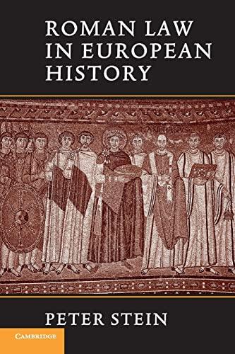 9780521643795: Roman Law in European History
