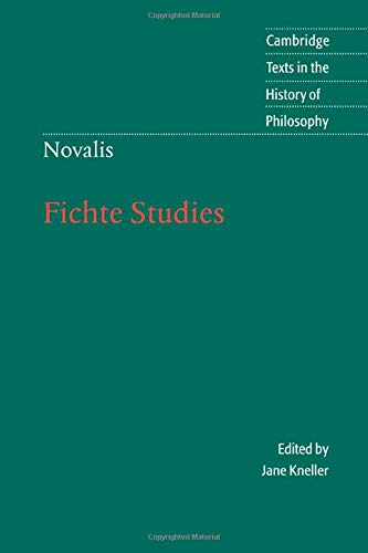9780521643924: Novalis: Fichte Studies Paperback (Cambridge Texts in the History of Philosophy)