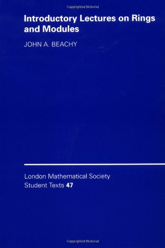 9780521644075: Introductory Lectures on Rings and Modules (London Mathematical Society Student Texts)