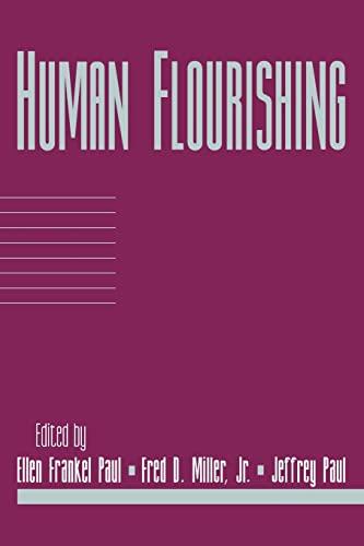9780521644716: Human Flourishing: Volume 16, Part 1
