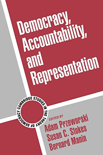 9780521646161: Democracy, Accountability, and Representation Paperback (Cambridge Studies in the Theory of Democracy)