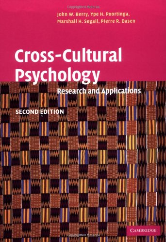 9780521646178: Cross-Cultural Psychology: Research and Applications