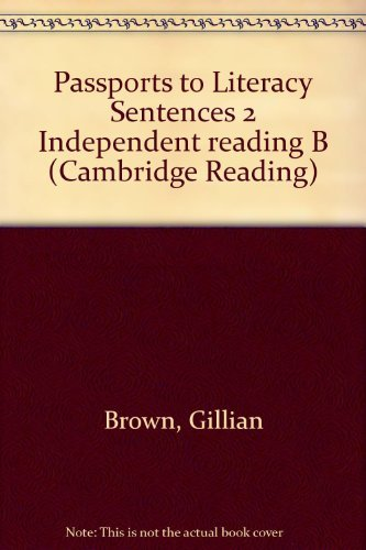9780521648127: Passports to Literacy Sentences 2 Independent reading B (Cambridge Reading)