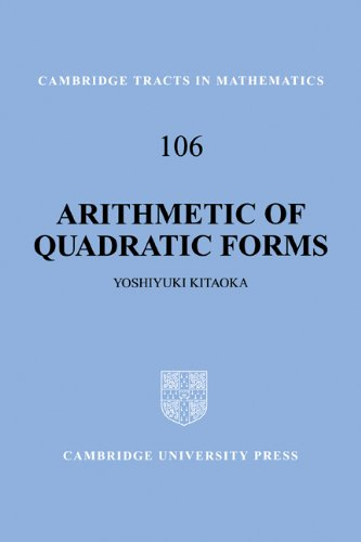 9780521649964: Arithmetic of Quadratic Forms (Cambridge Tracts in Mathematics)