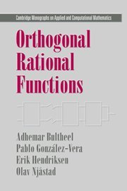 9780521650069: Orthogonal Rational Functions (Cambridge Monographs on Applied and Computational Mathematics)