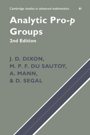 9780521650113: Analytic Pro-P Groups (Cambridge Studies in Advanced Mathematics)
