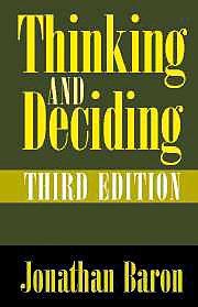 9780521650304: Thinking and Deciding