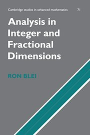 9780521650847: Analysis in Integer and Fractional Dimensions (Cambridge Studies in Advanced Mathematics)