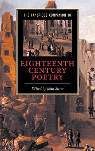 9780521650908: The Cambridge Companion to Eighteenth-Century Poetry (Cambridge Companions to Literature)