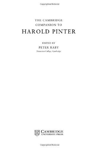 9780521651233: The Cambridge Companion to Harold Pinter (Cambridge Companions to Literature)