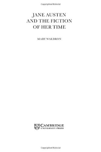 9780521651301: Jane Austen and the Fiction of her Time