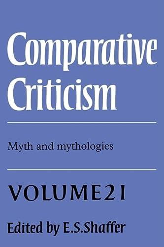 9780521652025: Comparative Criticism: Volume 21, Myth and Mythologies