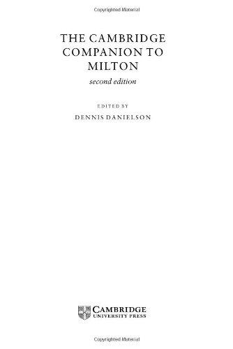 9780521652261: The Cambridge Companion to Milton (Cambridge Companions to Literature)