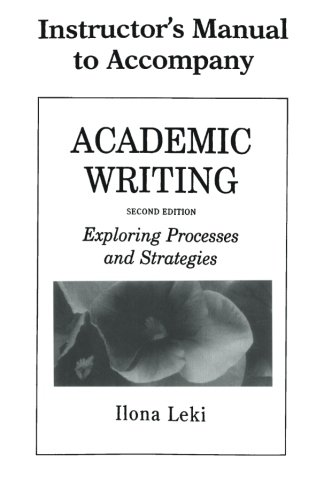 9780521657679: Academic Writing Instructor's Manual: Exploring Processes and Strategies