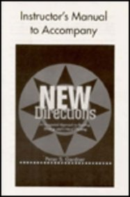 9780521657754: New Directions Instructor's Manual: An Integrated Approach to Reading, Writing, and Critical Thinking