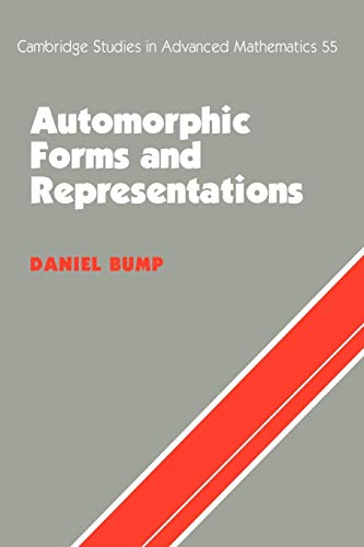 9780521658188: Automorphic Forms and Representations Paperback (Cambridge Studies in Advanced Mathematics)