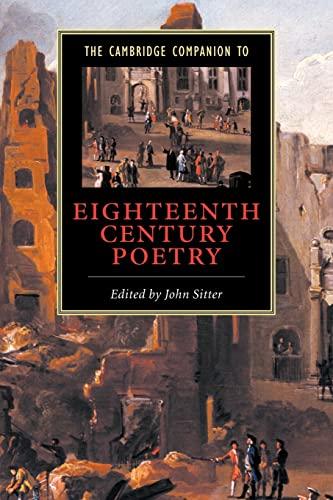 9780521658850: The Cambridge Companion to Eighteenth-Century Poetry (Cambridge Companions to Literature)