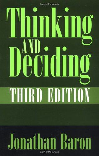 THINKING AND DECIDING - BARON, JONATHAN