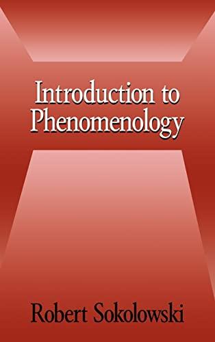 9780521660990: Introduction to Phenomenology