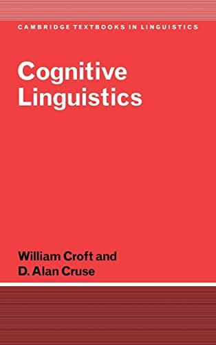 9780521661140: Cognitive Linguistics Hardback (Cambridge Textbooks in Linguistics)