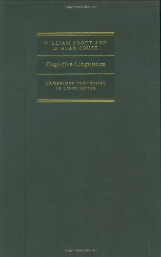 9780521661140: Cognitive Linguistics (Cambridge Textbooks in Linguistics)