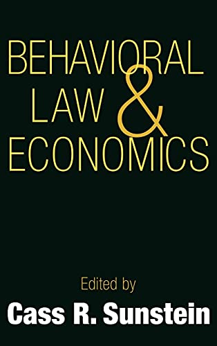 9780521661355: Behavioral Law and Economics (Cambridge Series on Judgment and Decision Making)