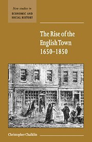 9780521661416: The Rise of the English Town, 1650-1850 (New Studies in Economic and Social History)
