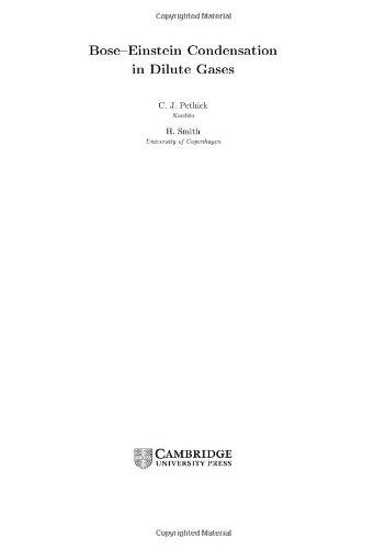 9780521661942: Bose-Einstein Condensation in Dilute Gases