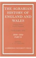The Agrarian History of England and Wales 2 Volume Hardback Set: Volume 7, 1850 1914 (Hardcover): ...