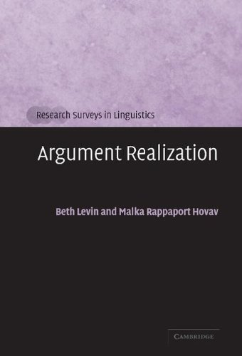 9780521663311: Argument Realization (Research Surveys in Linguistics)